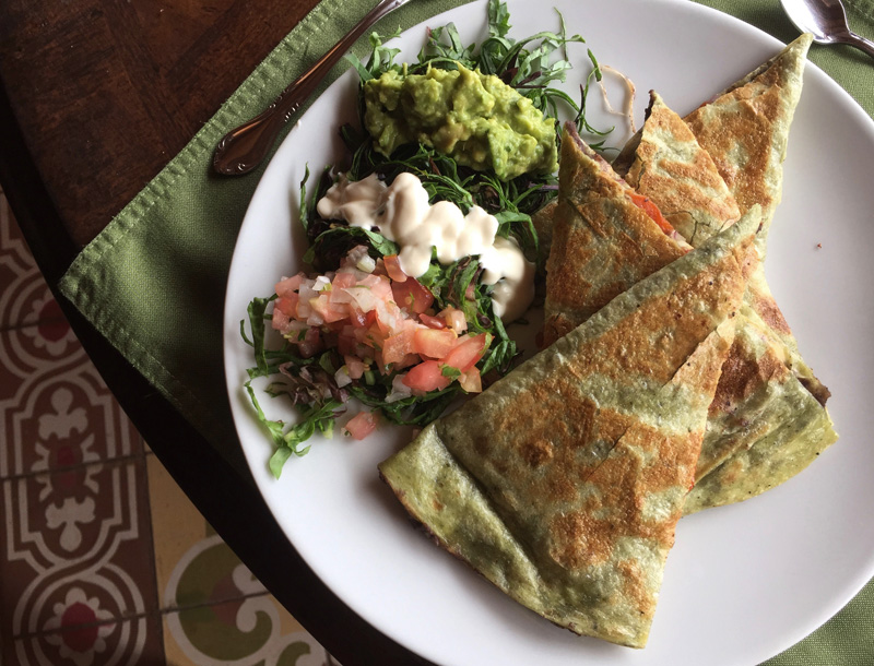 Rosycheeks-blog-Costa-Rica-Monteverde-Hotel-Belmar-veggie-quesadilla