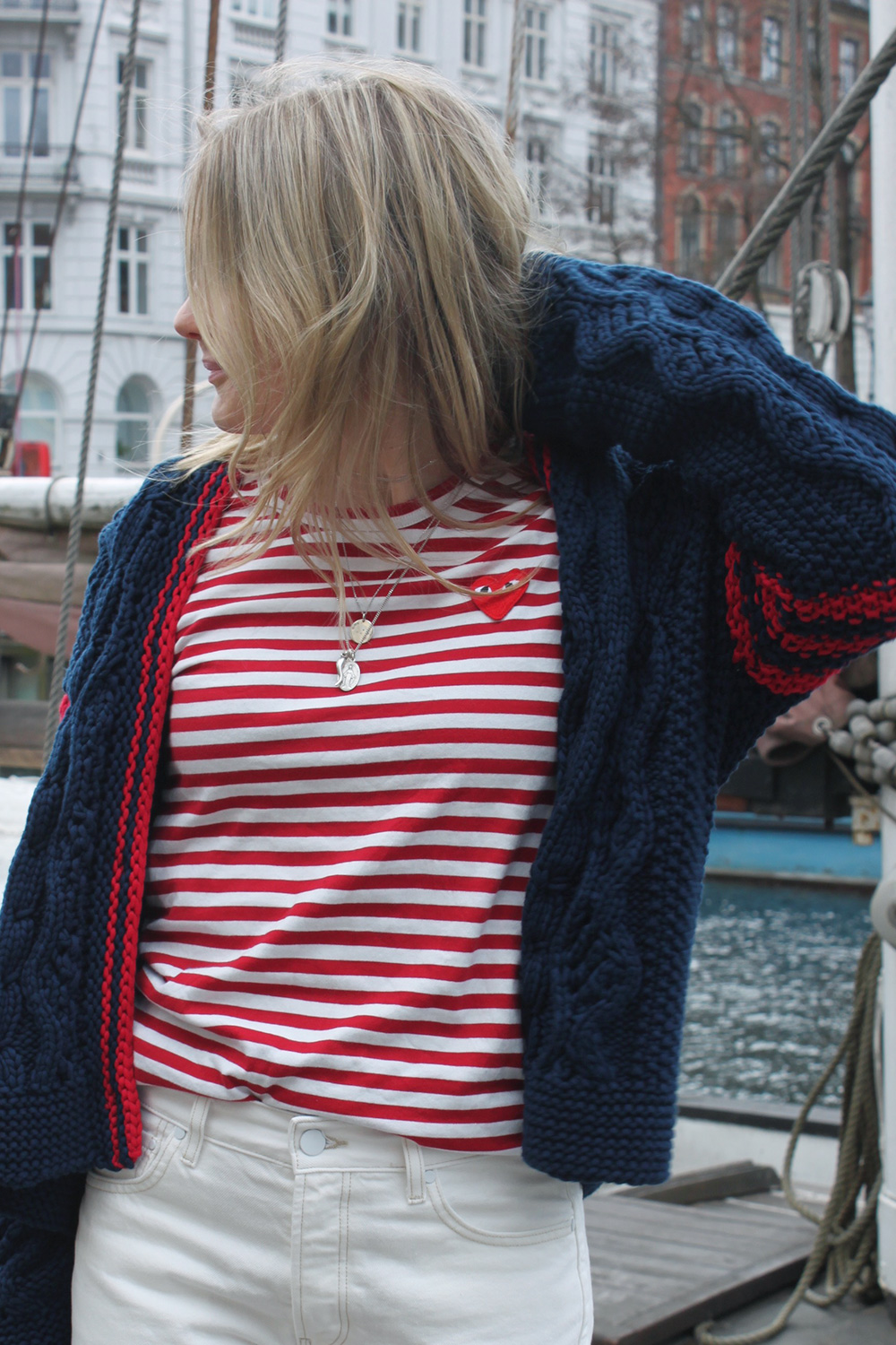 RosyCheeks-blog-knitted-cardigan-comme-des-garcons-striped-shirt