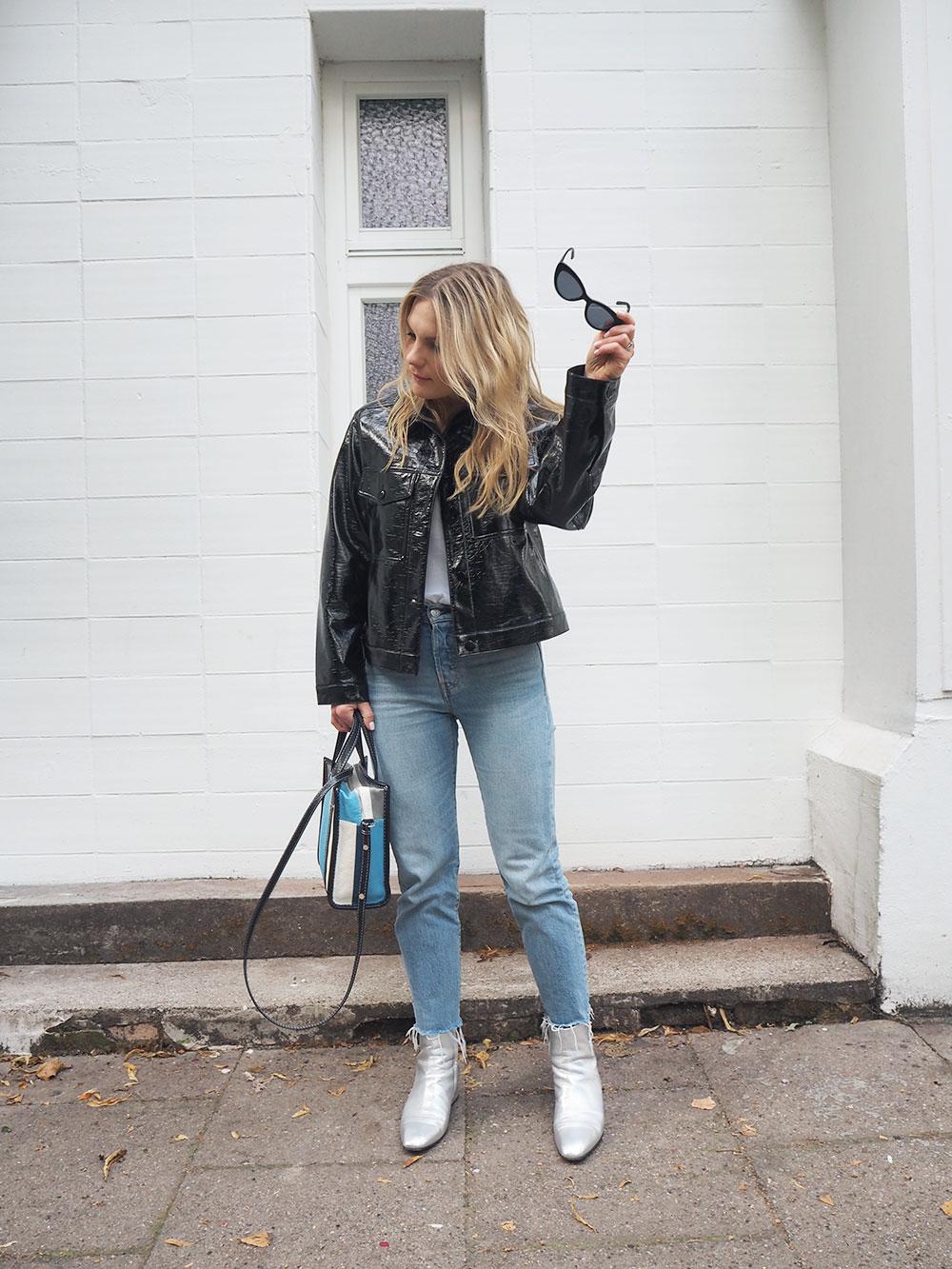 RosyCheeks-blog-Monki-vinyl-jacket-levis-wedgie-jeans-aeyde-naomi-boots