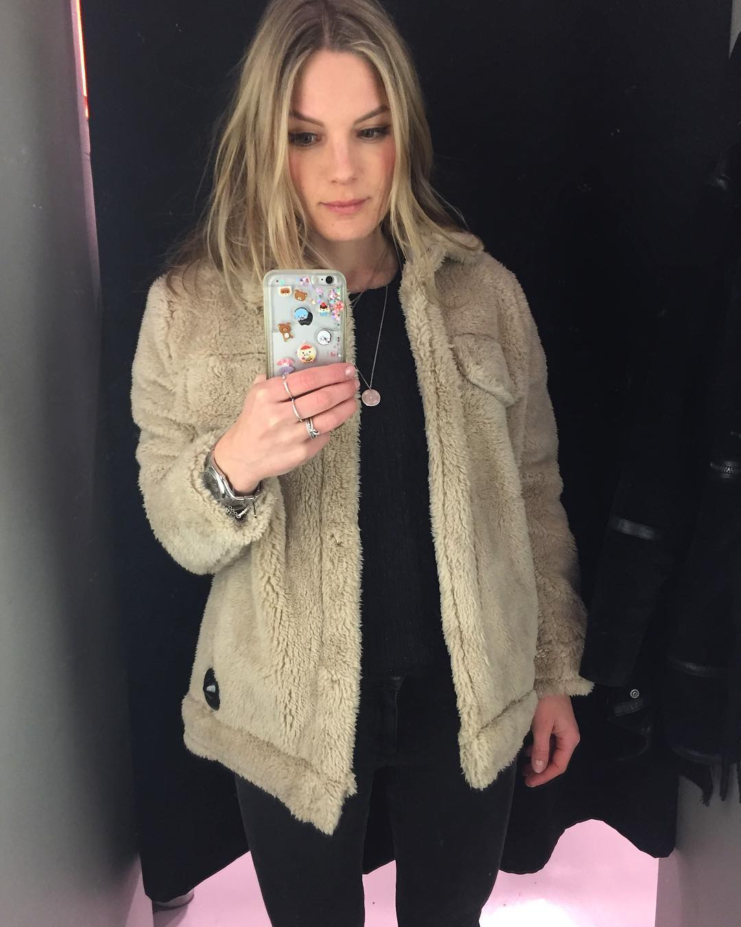 Another mirror selfie in another warm jacket  Bye Oslo!hellip