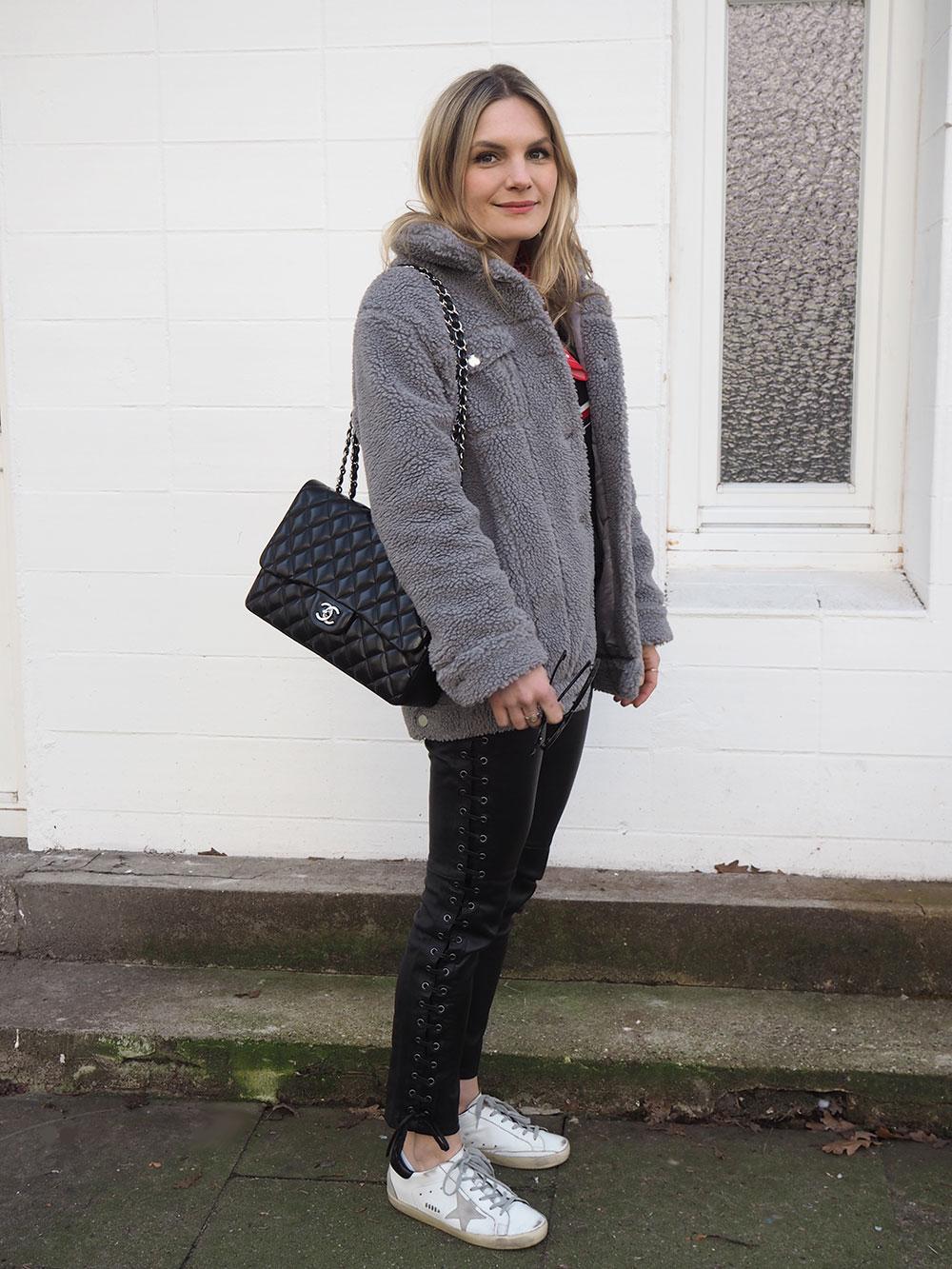RosyCheeks-Blog-Teddy-jacket-Isabel-Marant-leather-trousers