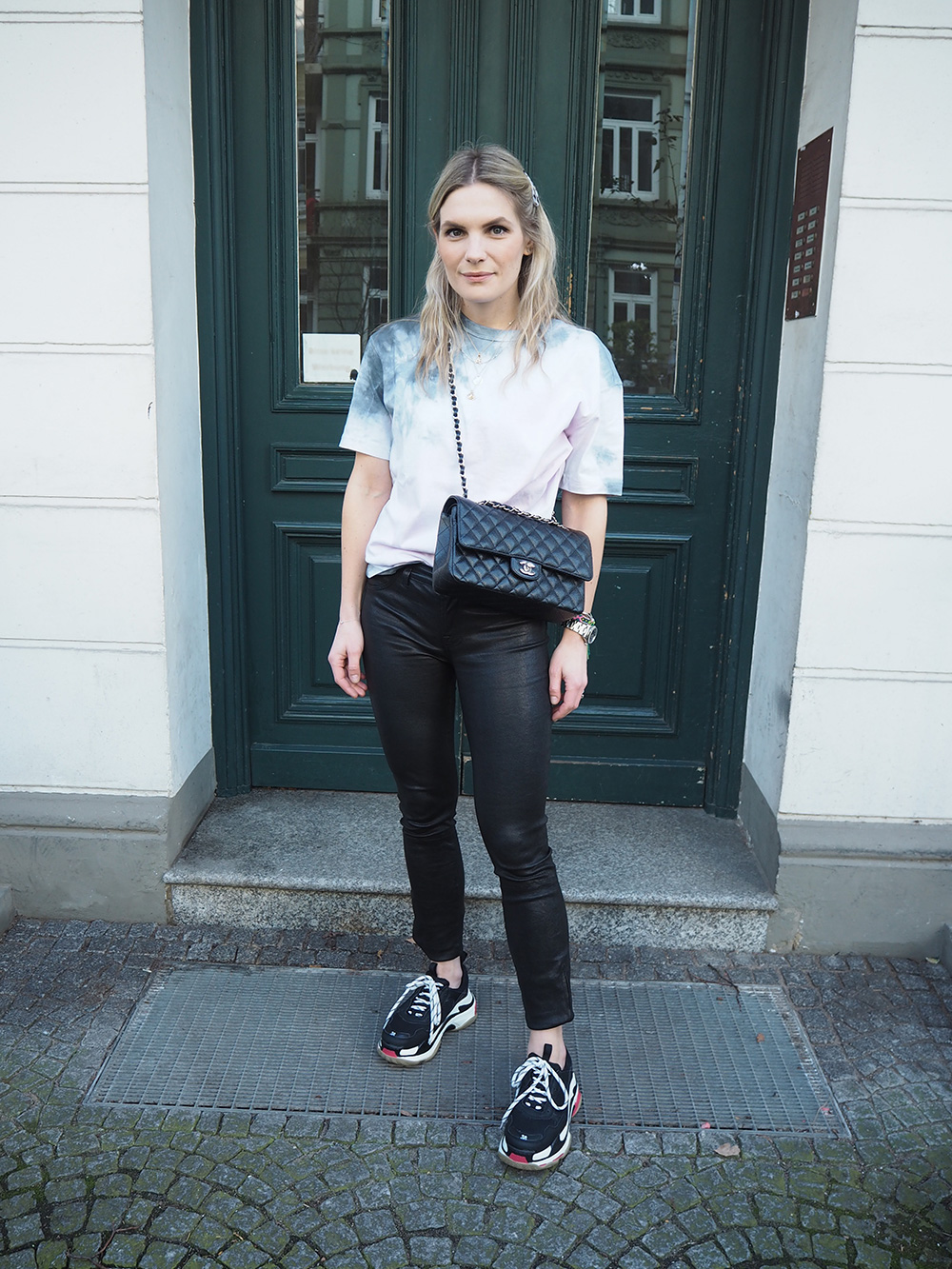 RosyCheeks-chanel-bag-j-brand-leather-trousers