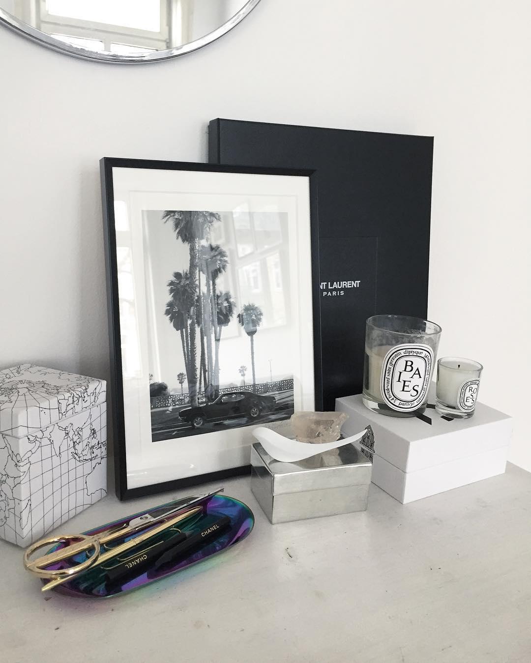 On my desk home diptyque saintlaurent haydesign